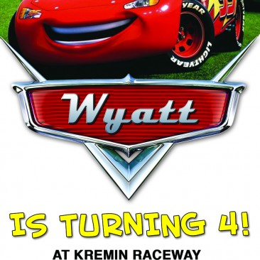 Disney Cars Themed Birthday Invitation