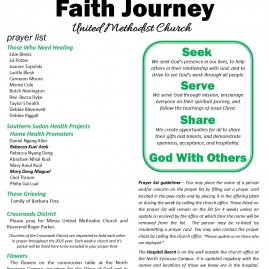 Faith Journey UMC – Bulletin Redesign
