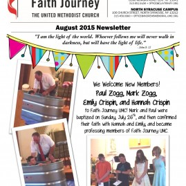 Faith Journey UMC Monthly Newsletter