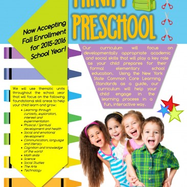 Trinity Preschool Flyer & Fact Card