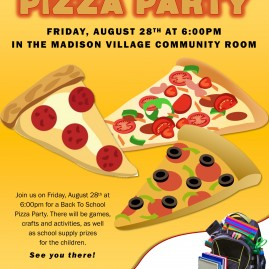 Back to School Pizza Party for Madison Village